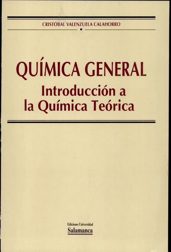 Libro de introducción a química general de